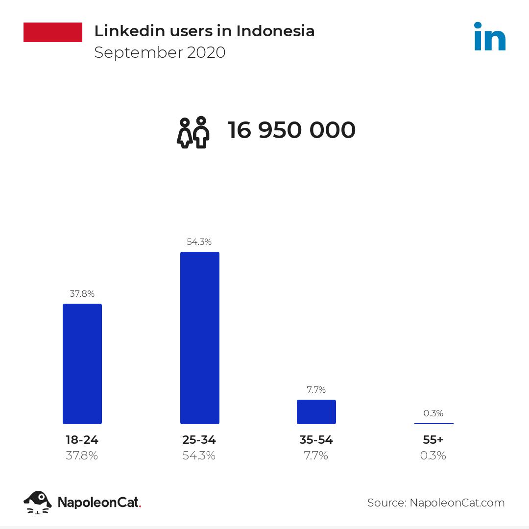 Linkedin users in Indonesia